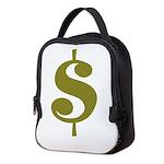 Dollar Sign Neoprene Lunch Bag
