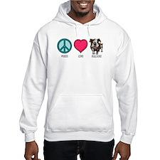 Peace Love & Bulldogs Hoodie
