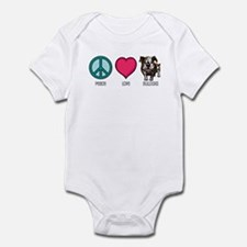 Peace Love & Bulldogs Infant Bodysuit