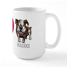 Peace Love & Bulldogs Mug