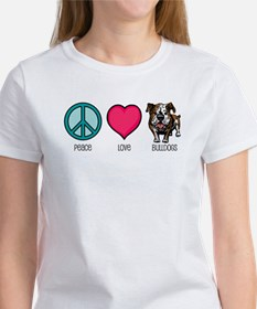 Peace Love & Bulldogs Tee