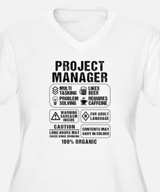 Project Manager Plus Size T-Shirt
