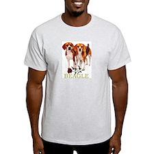 Beagle Valentines Love Heart Ash Grey T-Shirt