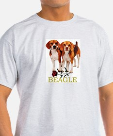 Beagle Valentines Love Heart Ash Grey T-Shirt