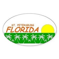 St. Petersburg, Florida Oval Decal