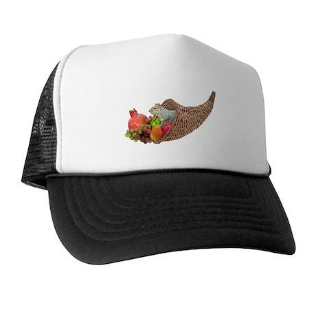 Squirrel in Cornucopia Trucker Hat