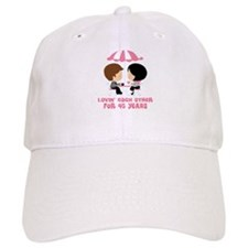 45th Anniversary Paris Couple Baseball Cap