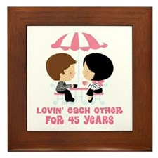 45th Anniversary Paris Couple Framed Tile