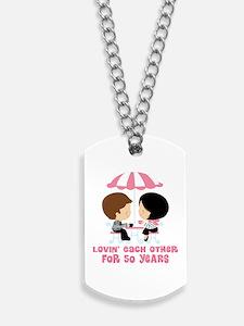 50th Anniversary Paris Couple Dog Tags