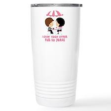50th Anniversary Paris Couple Travel Mug