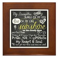 My Daughter Framed Tile
