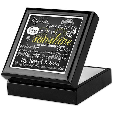 My Son Inspirational Keepsake Box
