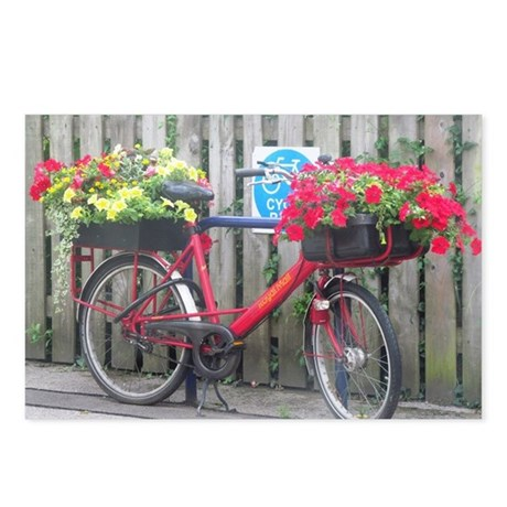 English Flower Bike Postcards (Package of 8)