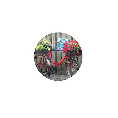 English Flower Bike Mini Button