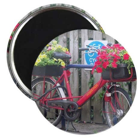 English Flower Bike Magnet