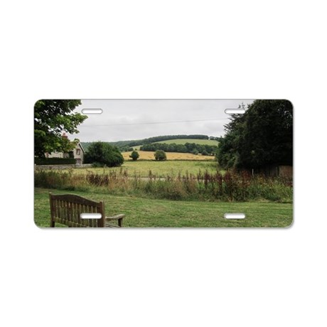 English Countryside from Wo Aluminum License Plate