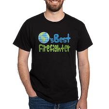 Earths Best Firefighter T-Shirt
