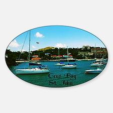 Cruz Bay St. John Sticker (Oval)