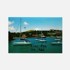 Cruz Bay St. John Rectangle Magnet
