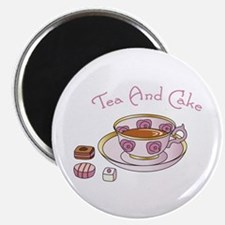 """Tea And Cake 2.25"""" Magnet (100 pack)"""