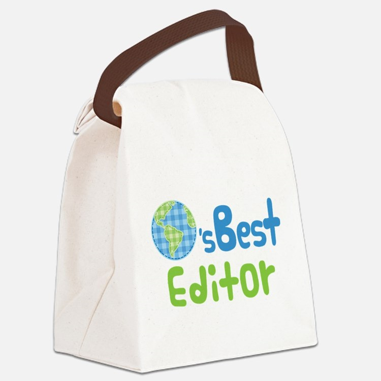 Earths Best Editor Canvas Lunch Bag