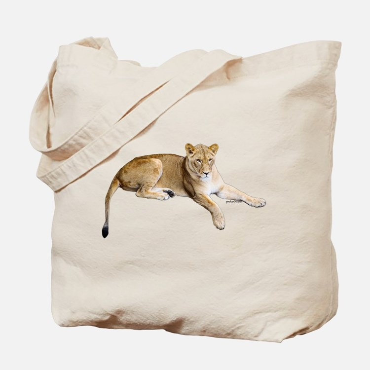 Resting lioness Tote Bag