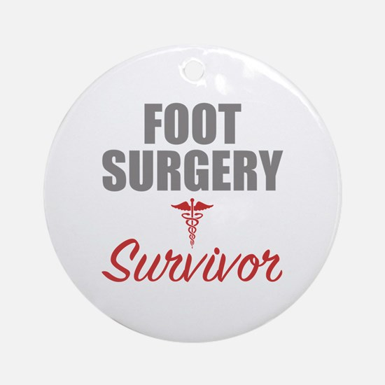 Foot surgery Round Ornament