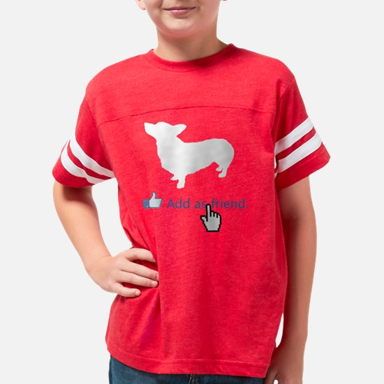 Pembroke-Welsh-Corgi14 Youth Football Shirt