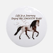 Racking Horse Smooth Journey Ornament (Round)