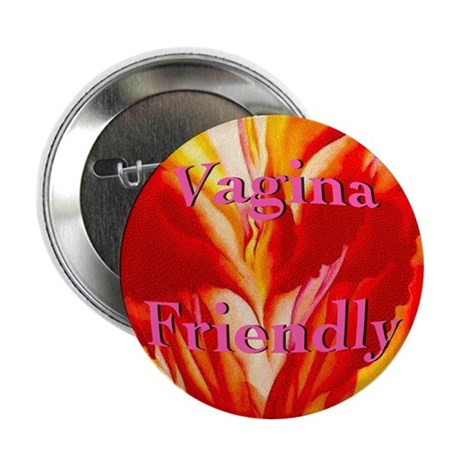 """Vagina Friendly 2.25"""" Button (100 pack)"""