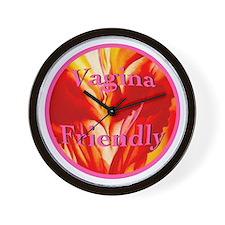 Vagina Friendly Wall Clock
