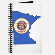 Minnesota Outline Map and Flag Journal