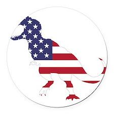 Tyrannosaurus (United States) Round Car Magnet