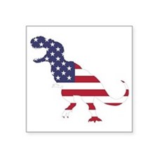 "Tyrannosaurus (United State Square Sticker 3"" x 3"""