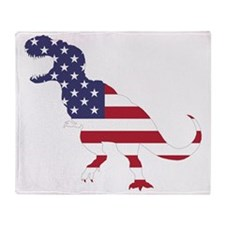 Tyrannosaurus (United States) Throw Blanket
