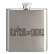 Cowgirl Matron of Honor Flask