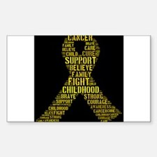 Childhood Cancer Word Shape Decal