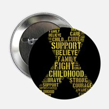 "Childhood Cancer Word Shape 2.25"" Button"