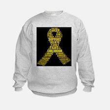 Childhood Cancer Word Shape Sweatshirt