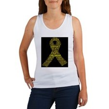 Childhood Cancer Word Shape Tank Top