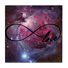 Infinite love nebula Tile Coaster