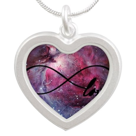 Infinite love nebula Silver Heart Necklace by ADMIN ...