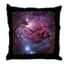 Infinite love nebula Throw Pillow