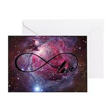 Infinite love nebula Greeting Card