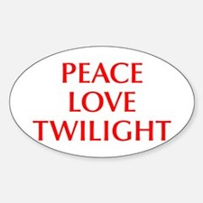 PEACE-LOVE-TWILIGHT-OPT-RED Decal
