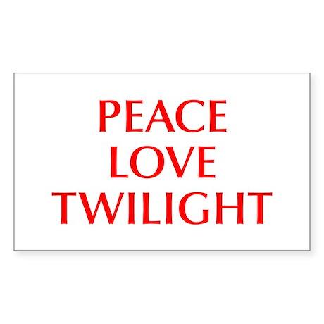 PEACE-LOVE-TWILIGHT-OPT-RED Sticker