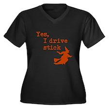 Yes, I drive Stick (Orange) Plus Size T-Shirt