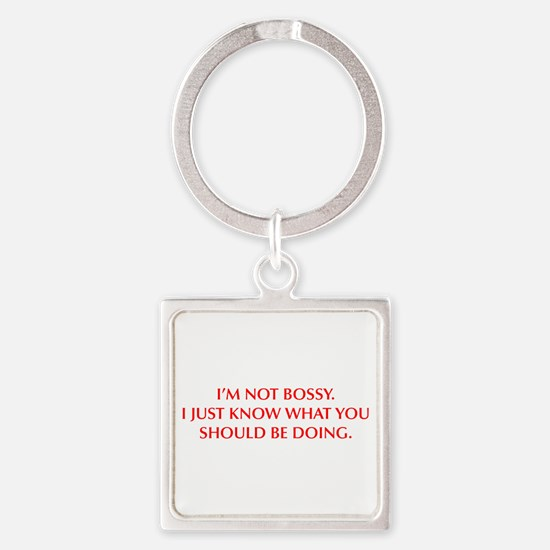 IM-NOT-BOSSY-OPT-RED Keychains