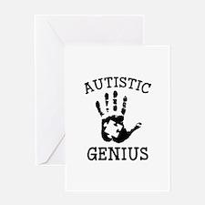 Autistic Genius Greeting Card