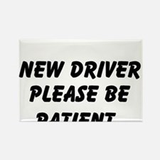 New Driver Please Be Patient Rectangle Magnet